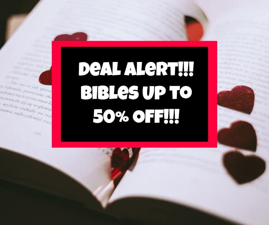 DEAL ALERT!  Bible Journaling Bibles 50% OFF ITs Back