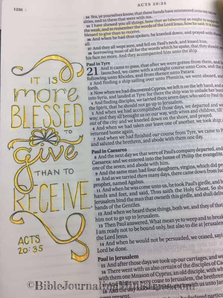 Bible Journaling Ministries Acts 20-35