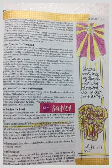 Bible Journaling Ministries Luke 9-23