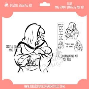 Luke 1:38 - Mary Digital Stamp