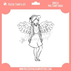 Rebecca digital stamp