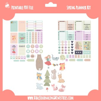 Spring Faith Based Planner Kit
