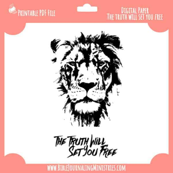 The Truth Shall Set you Free Digital Paper