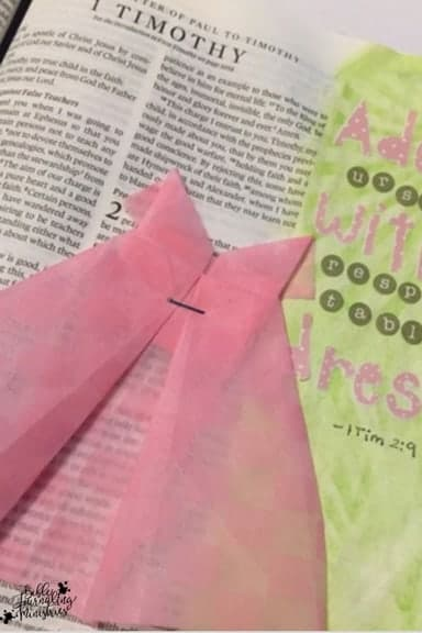 Bible Journaling Ideas for Bible Verses About Clothes 1 Timothy 2:9