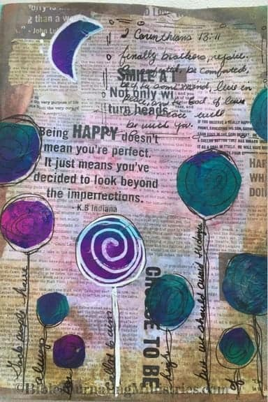 Bible Journaling Idea for Bible Verses About Healing 2 Corinthians 13.11