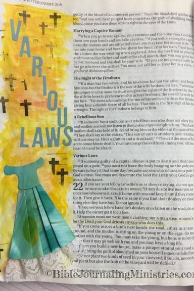 Bible Journaling Ideas for Bible Verses About Clothes Deuteronomy 22.5