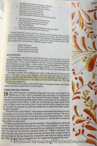 Bible Journaling Idea for Bible Verses About Healing Exodus 15.26
