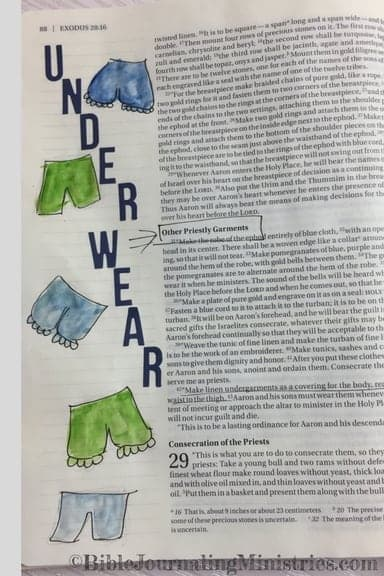 Bible Journaling Ideas for Bible Verses About Clothes Exodus 28:42