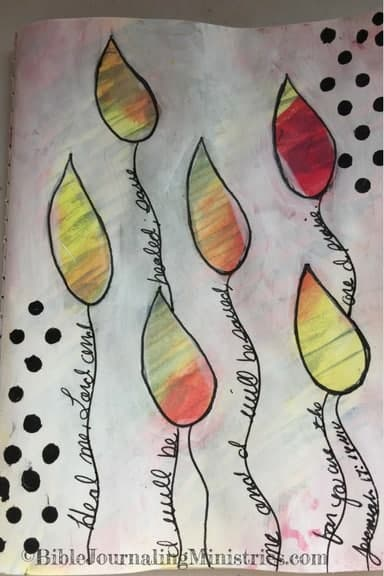 Bible Journaling Idea for Bible Verses About Healing Jeremiah 17.14