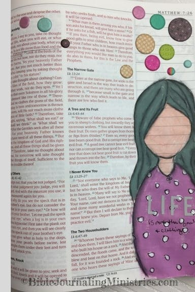 Bible Journaling Ideas for Bible Verses About Clothes Matthew 6:25