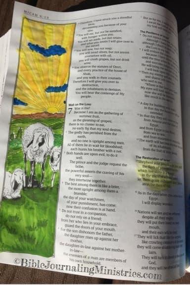 Bible Journaling in the Book of Micah Micah 7.14