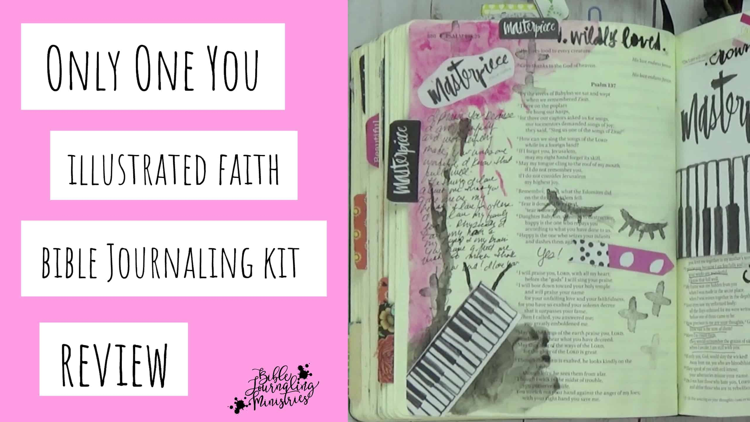 Illustrated Faith Only One You Bible Journaling Kit Review