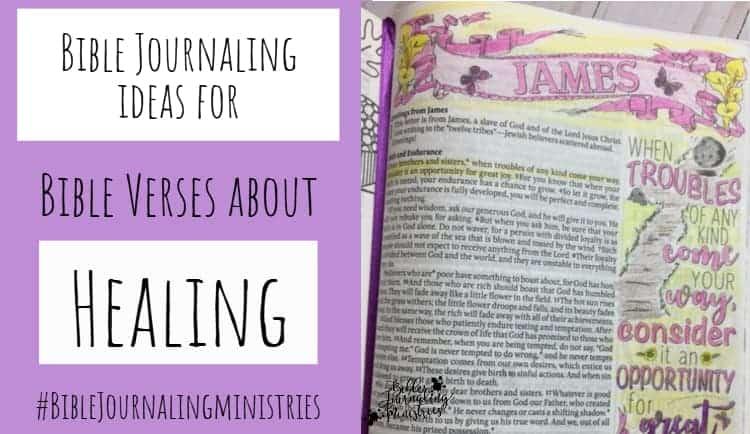 Bible Journaling Ideas for Bible Verses About Healing