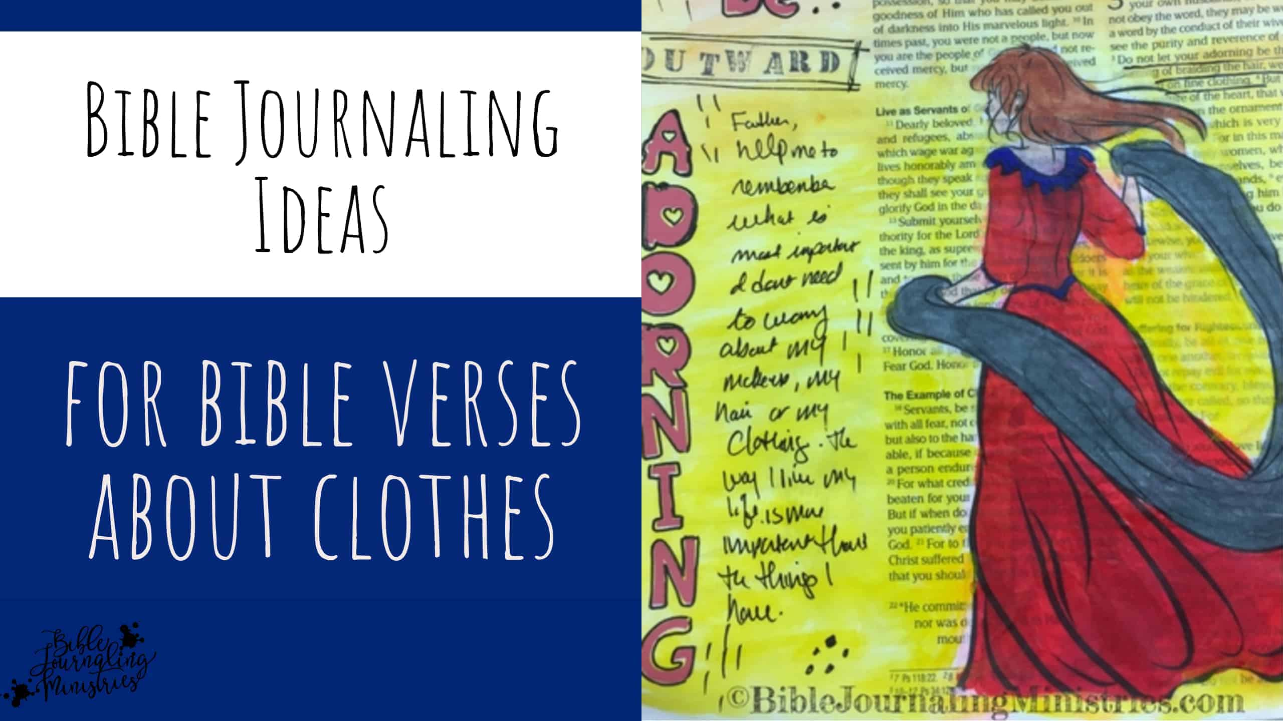 Bible Journaling Ideas for Bible Verses About Clothes