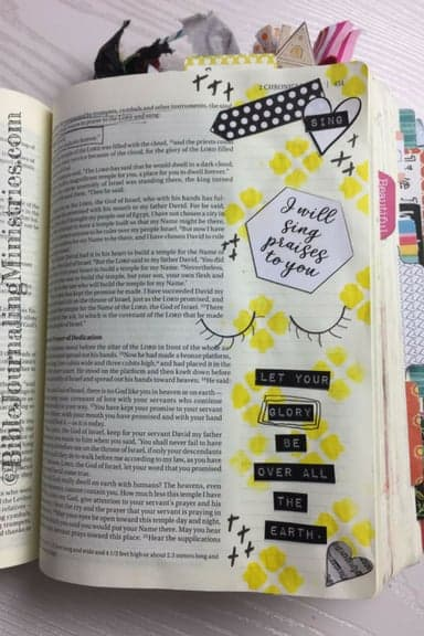 Bible Journaling with the Creative Faith Crew 2 Chronicles 5.13