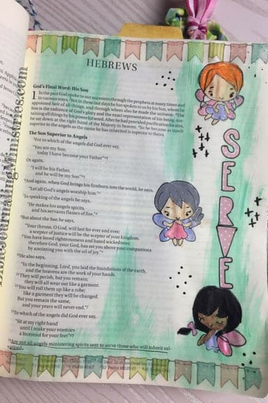 Bible Journaling Bible Verses About Angels Hebrews 1.14