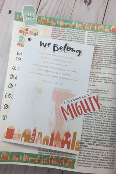 Stronger Together - Bible Journaling With The Latest Illustrated Faith Kit