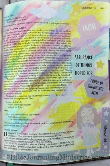 Bible Journaling Unfailing Faith Momentum Devotional Hebrews 11.1