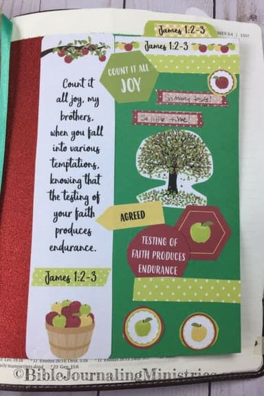 Bible Journaling Unfailing Faith Momentum Devotional James 1.2-3