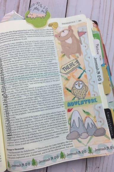 Bible Journaling Where Are you God Momentum Devotional Jeremiah 29.12-13