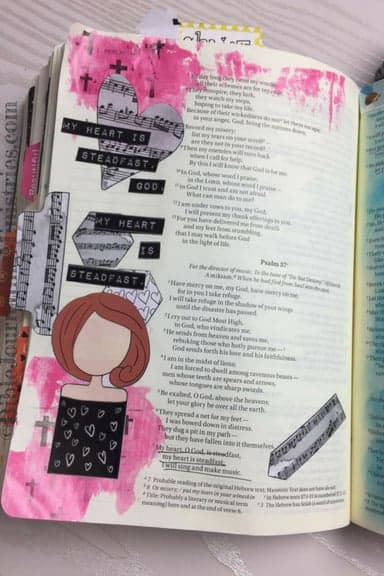 Bible Journaling with the Creative Faith Crew Psalm 57:7