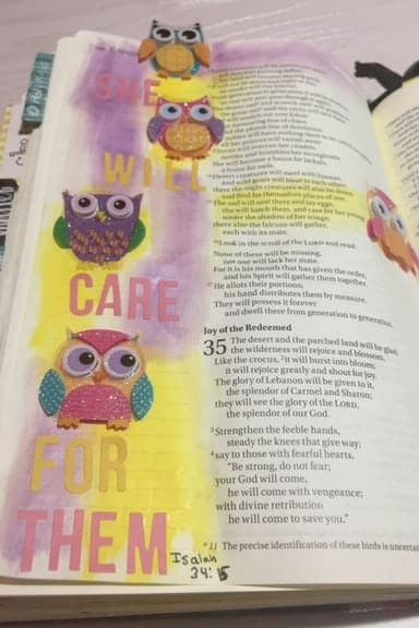 Bible journaling on a budget with Dollar Tree stickers 3