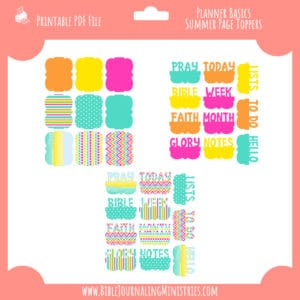 Planner Basics-Summer Page Toppers