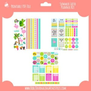 Summer Faith Planner Kit