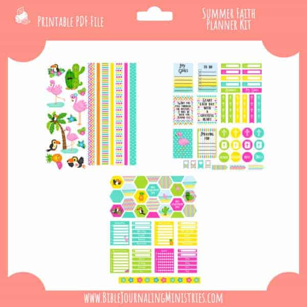 Summer Faith Planner Kit
