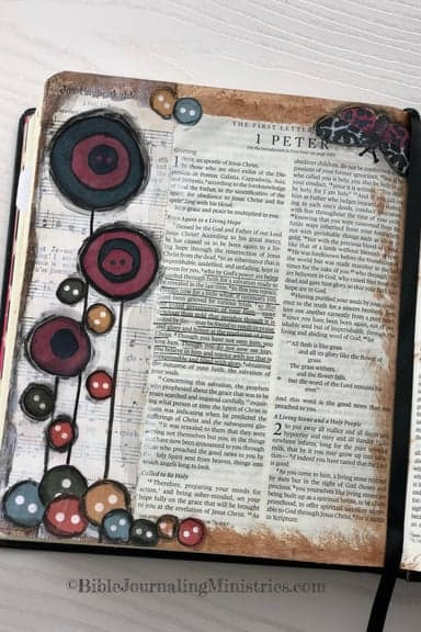 Joining the A Joyful Heart - Bible Journaling Study 1 Peter 1:5-8