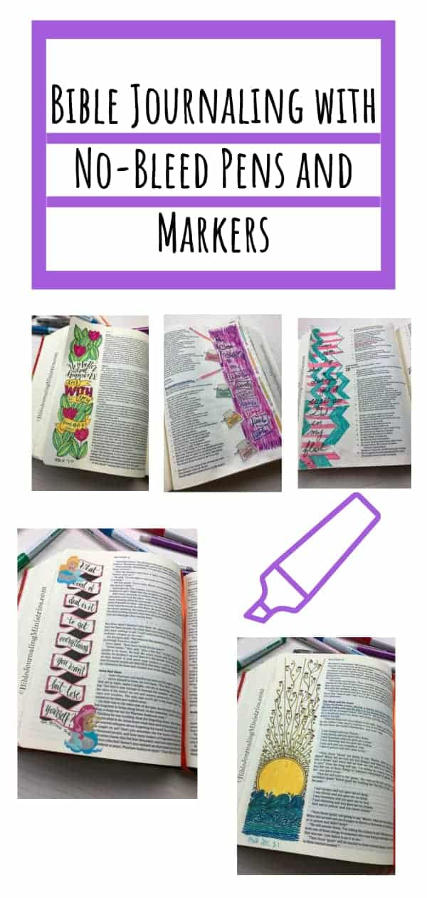 Bible Journaling with No-Bleed Pens and Markers
