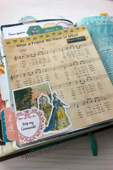 Joining the A Joyful Heart - Bible Journaling Study John 15:11