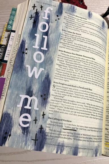 Bible Journaling Verses in Matthew, Matthew 9:9