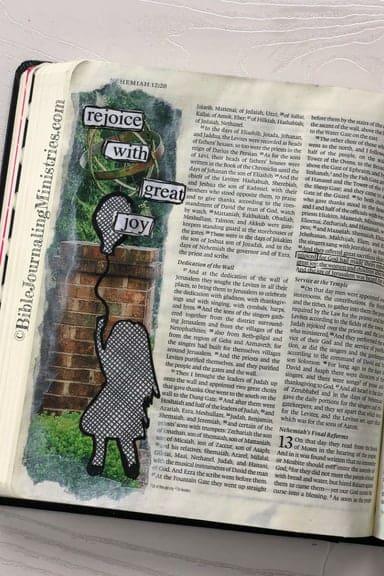 Joining the A Joyful Heart - Bible Journaling Study Nehemiah 12:43