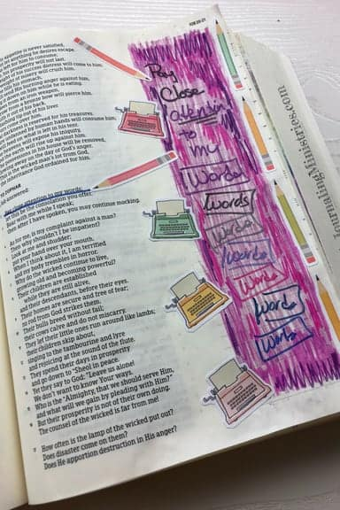 Bible Journaling with No-Bleed Pens