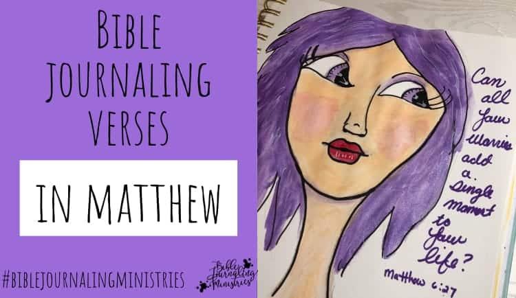 Bible Journaling Verses in Matthew