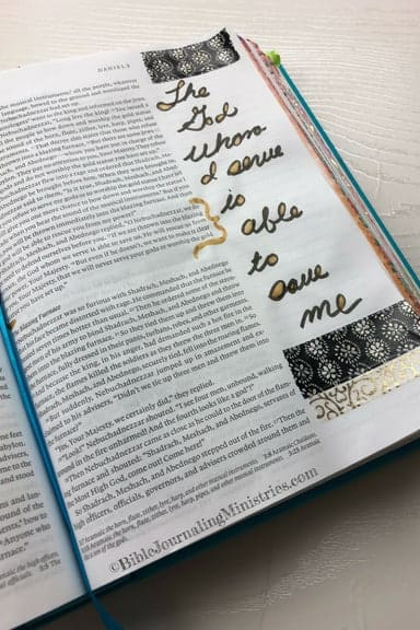 Joining the Be Courageous – A Bible Journaling Devotional Ephesians 6:10