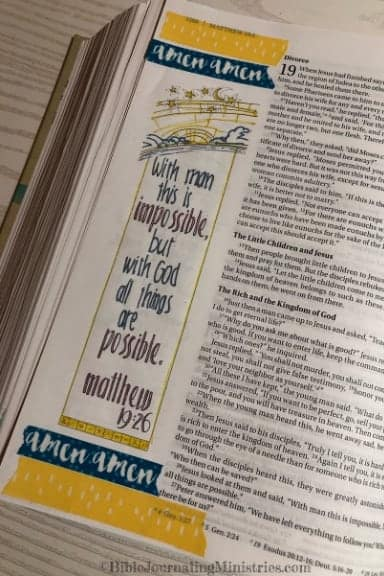 An Overview of the Gospel of Matthew 19:26