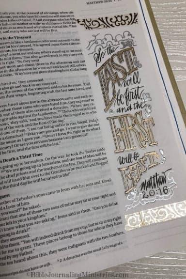 An Overview of the Gospel of Matthew 20:16