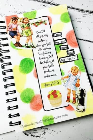 Faith Art Journaling James