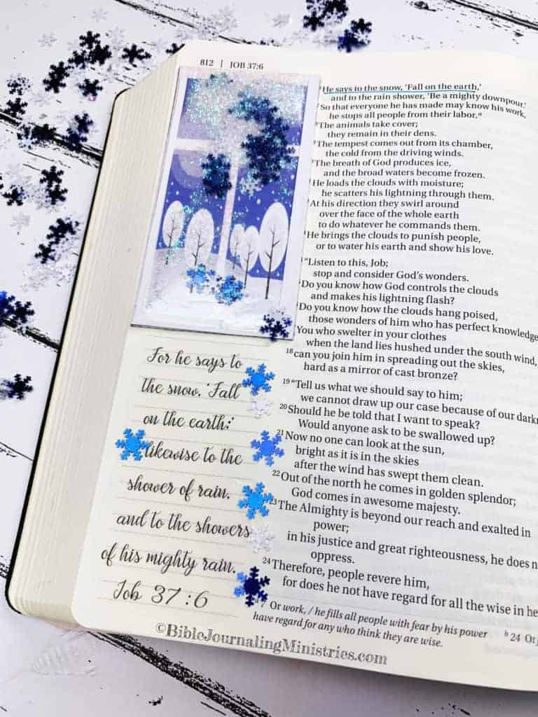 Merry Christmas Bible Devotional - Job 37:6
