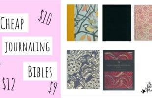 Cheap Bibles for Bible Journaling