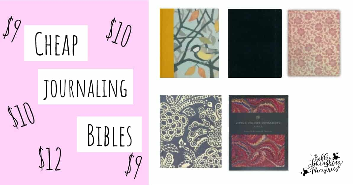 Cheap Bibles for Bible Journaling