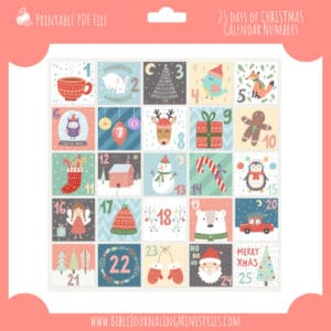 25 days of christmas blocks