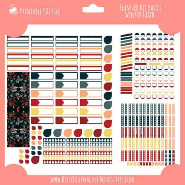 Winter Faith Planner Kit Basics
