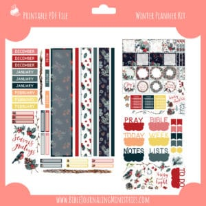 Winter Faith Planner Kit