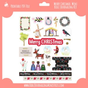Merry Christmas Mini Bible Journaling Kit