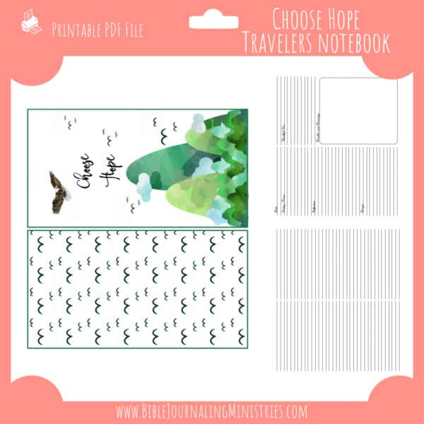 Choose Hope Traveler's Notebook Insert