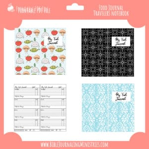Food Journal Traveler's Notebook Insert