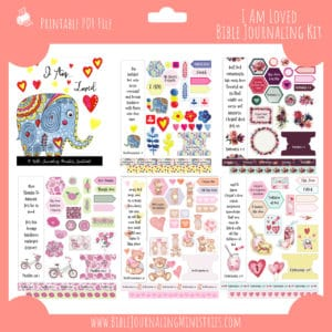 I Am Loved Bible Journaling Kit and Devotional - February 2019 Kit